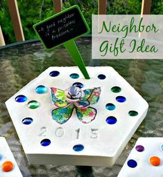 Moving away gift take a picture and frame the street sign original diy crafts home made gift hampers say goodbye to neighbors when you move with a homemade personalized garden stone solutioingenieria Choice Image