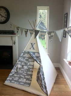 Teepee Tents designed and handmade in Ireland. Perfect for kids! These teepee tents are fun and functional.