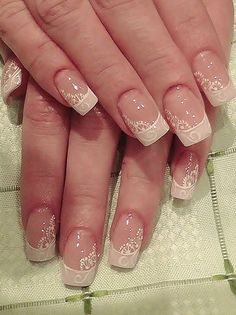 Natural Nail Designs, Colorful Nail Designs, Nail Art Designs, Nail Spa, Manicure And Pedicure, Wedding Day Nails, Finger Nail Art, Lace Nails, Nail Decals