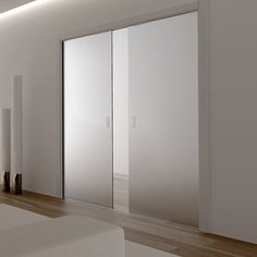 Eclisse Classic 8mm Satin Glass Double Doors and Double Pocket Cassette