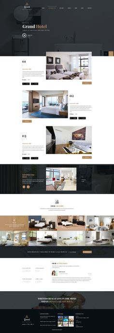 Restaurant PSD Template is a Hotel Reservation amp; Restaurant PSD Template for Hotel amp; Its a clean and beautifully designed PSD template that is an ideal fit for. Web Design Tips, Design Strategy, Ui Design, Layout Design, Design Agency, Design Hotel, Hotel Website Design, Responsive Layout, Responsive Web Design