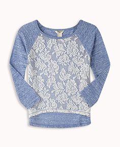 Crocheted Raglan Top | FOREVER21 girls - 2049967594