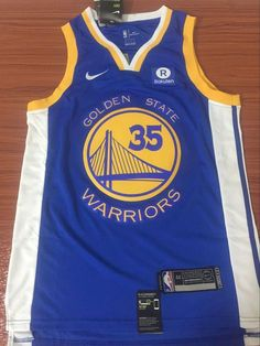 28f1e1bbe Men GSW 35 Kevin Durant Jersey Blue Golden State Warriors Jersey Fans