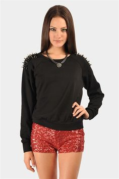 Bowser Spiked Sweatshirt - Black