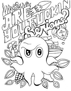 Sign up to receive 3free coloring adult swear word pages