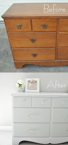PAINTING / SANDING | TECHNIQUE :: A Furniture Refinish Tutorial :: She also revels her techniques & products used. | #centsationalgirl #painting #refinishing #sanding