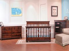 Designed with routed edges, our Caroline Nursery Furniture Set features everything for baby such as a Crib, Nightstands and ample storage solutions.