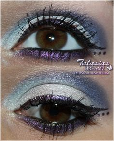 Blue Purple Eye Make Up - Datum: 18.11. 2011  http://talasia.blogspot.de/2011/11/amu-dior-5-color-eyeshadow-205-extreme.html