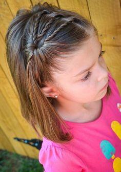 coiffure fillette tresse torsadé