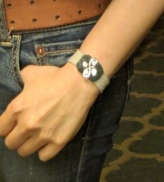 Beige Leather Thin Cuff - Jewelry By Amy Chang