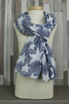 shawl sterren blauw