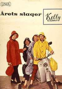 The Kelly Coat ; popular rain wear from my child-hood- fond memories.