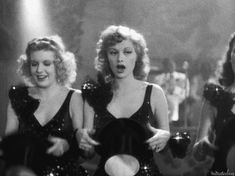 Lucille Ball (with Marjorie Woodworth to the left) in DANCE, GIRL, DANCE (1940)