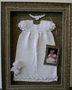 WOW - baby's christening gown is certainly a work of art... Why not custom frame it like one?!?