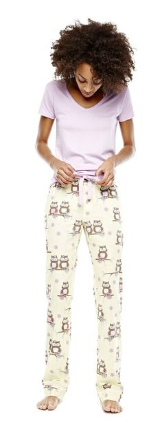 insomniax v-neck and cotton pajama bottoms