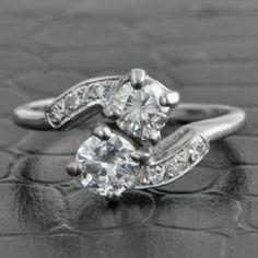 Estate+Diamond+Bypass+Ring++$2,499.00 Disney Princess Rings, Bypass Ring, Diamond Rings, Engagement Rings, Jewelry, Enagement Rings, Wedding Rings, Jewlery, Jewerly
