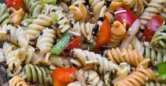 Recette facile de salade de pâtes aux trois couleurs!