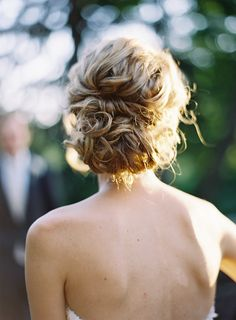 gorgeous curled bridal updo ~  we ❤ this! moncheribridals.com