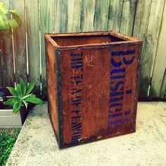 Vintage Bushells Advertising Tea Chest Brisbane Stocks ~ Treasured Collections Au