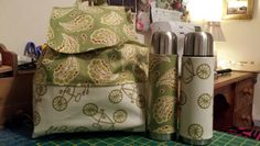 New fabric new bag design and matching flasks