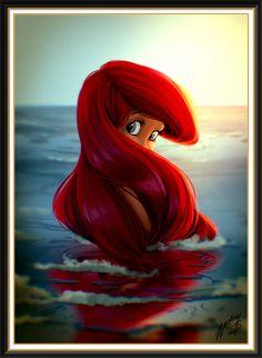 Disney Art -- Ariel Little Mermaid
