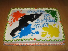 Paintball Cake  on Cake Central