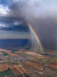 Isn't this a cool look at a rainbow literally on the edege of the could?
