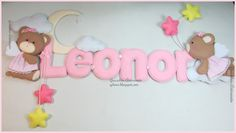 """Flying bear"" themed name Banner handmade by Gracinhas Artesanato"