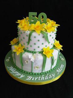 Cake easter birthday mom 18 New ideas Grandma Birthday Cakes, 90th Birthday Cakes, 50th Cake, Birthday Cakes For Women, St Davids Day Cakes, Daffodil Cake, Cake Decorating For Kids, Cake Designs For Girl, Rodjendanske Torte