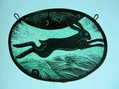 Hare stained glass by Tamsin Abbott