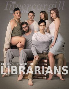 Marking the first decade of their TV show Keeping Up with the Kardashians, the family has posed for the cover of Hollywood Reporter. After seeing it, these librarians decided it would be funny to somehow channel it with a library spin. To celebrate, our social media team decided to have a totally impromptu, definitely not planned, photo-shoot. the staff of Invercargill City Libraries and Archives (New Zealand) wrote in their Facebook post.