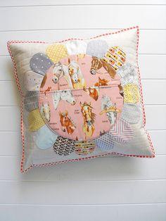 Horse pillow pocket by Angela - Fussy Cut, via Flickr