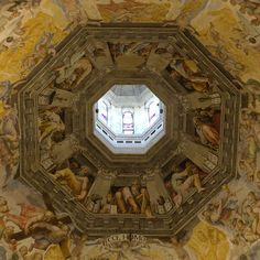 Frescoes in the Duomo in Florence, Italy