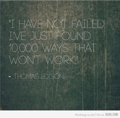 "Thomas Edison once said, ""I have not failed. I've just found 10,000 ways that won't work.""    Goodwill Southern California sees the wisdom in these words and encourages everyone not to be discouraged by failure, but to view it as a step to  wards success. Here at Goodwill we want to help you achieve success and secure sustainable employment. We offer a range of services for ALL individuals and together, we can find what does work! http://www.goodwill.org/goodwill-for-you/jobs-and-careers/"