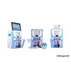 Frozen Karaoke Machine CD Player Song Portable Lyric Singing Screen Tablet Music