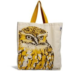 Talented Totes Cherith Harrison Owl Canvas Tote Bag (30 CAD) ❤ liked on Polyvore featuring bags, handbags, tote bags, multi, owl print purse, canvas purse, owl tote bag, top handle handbags and canvas tote