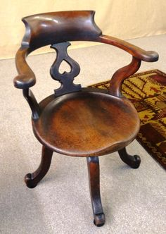 Gorgeous antique walnut swivel desk chair with contoured seat, just in! $375 Antique Furniture, Cool Furniture, Eclectic Taste, Desk Chair, June, Victorian, Antiques, Home Decor, Antiquities