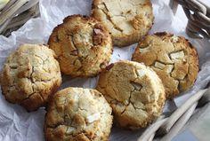 BAKE: Rozanna Purcell's Apple, Cinnamon and walnut scones Sugar Free Recipes, Clean Recipes, Paleo Recipes, Paleo Treats, Healthy Desserts, Healthy Scones, Cinnamon Apples, Breakfast Recipes, Good Food