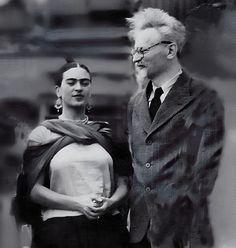 Frida Kahlo y Leon Trosky