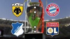 Champions-League-Konferenz im Live-Ticker: AEK Athen - FC ... Lyonnaise, Champions League, Porsche Logo, Live, Logos, Athens, Logo