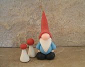 Garden Gnome and Mushrooms