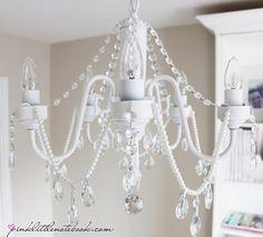 DIY lámpara de araña casera pegar cristales