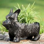 scottie terrier dog Planters, Wall Pots, Wall Planters - Wild Garden Accents