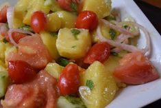 Πατατοντοματοσαλάτα !!! ~ ΜΑΓΕΙΡΙΚΗ ΚΑΙ ΣΥΝΤΑΓΕΣ 2 Fruit Salad, Recipes, Food, Fruit Salads, Recipies, Essen, Meals, Ripped Recipes, Yemek