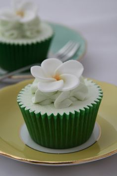 Frangipani cupcakes by The Clever Little Cupcake Company (Amanda), via Flickr