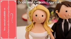 Video tutorial - how to make super cute wedding cake toppers