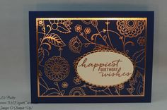 Liz Bailey Stampin' Up! Demonstrator - Petals and Paisleys Specialty DSP - Watercolor Wishes - copper foil