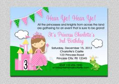 Princess Birthday Invitation Princess by TheTrendyButterfly, $15.00