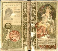 Official guide to the Austrian exhibition of the Paris world fair in 1900' by Alphonse Mucha.