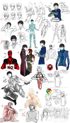 So,i did an other sketch dump ! ouo i wrote in green all my characters and in red the ones who are not mine! So hope you will enjoy this one,i hope find time to draw more se...